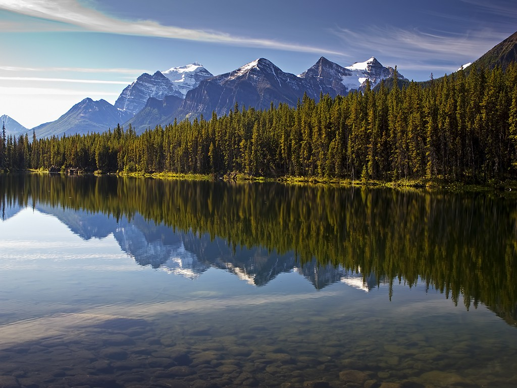 Hector Lake Alberta Canada